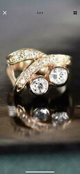 🔥🔥read Solid 14k Gold Diamonds 1.50 Ct Sz 6.50 Ring 🔥🔥10.7g As Is Scrap