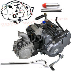 Lifan 125cc Engine Motor+exhaust Pipe+muffler+wire For Honda Crf50 Crf70 Xr50