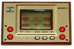 Nintendo Game And Watch Helmet Gold Series Lcd Wide Screen Mh-6 Japan Retro Game