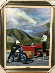 Scott Jacobs Competition Hot Framed And Signed Art Print W/ Paperwork Hc 5/5