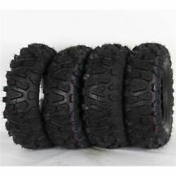 Ocelot Atv A/t 25x8-12 And 25x10-12 Mud/sand/dirt/rock P390 Tires 4 Pack