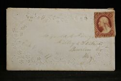Pennsylvania Cook 1857 Ladies Glossy Surface Cover + Letter Dpo Erie Co