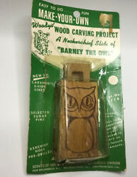 Vintage Boy Scout Owl Woodys Wood Carving Project From 1960s - 70s