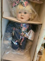 New In Box Retired Hamilton Collection Porcelain Doll Miss Priss Inga Manders