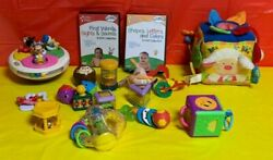 Baby Toys Including Vintage Top- Little Steps Dvd Cloth Farm Cube And Rattles