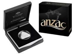 💰2015 Aust. 5 Anzac Centenary Triangular Cased Silver Proof Coin - Retail 120
