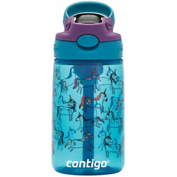 Contigo Kid's 14 Oz. Autospout Straw Water Bottle With Easy-clean Lid 2 New