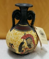 Nina Ceramic Hand Painted And Decorated Vase Pre-owned Made In Greece 60
