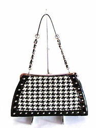 Women#x27;s Bags Handbags Designer Bags Trina Turk Black White Chain Shoulder Strap $402.50