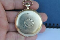 Vintage Old Swiss Made Omega Open Face Pocket Watch Gold 14carats 585