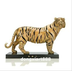 48 Cm Famous China Artist Pure Bronze Abstract Tiger Household Art Statue