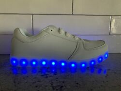 White Light Up Sport Shoes Usb Charging Led Light Lace Up Menand039s New