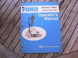 Ford Tractor Rotary Tiller Model 09gn 1105 Owner Operator Manual Guide Book