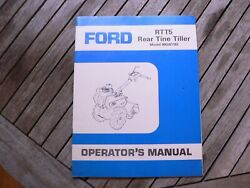 Ford Tractor Rtt5 Rear Tine Tiller Owner Operator Manual Guide Book Set Up