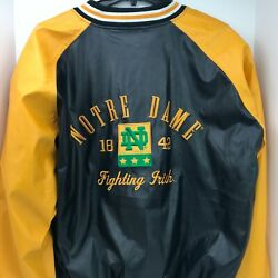 Notre Dame Fighting Irish Size Xl Steve And Barrys Faux Leather Mens Jacket