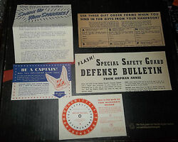 Quaker Oats Orphan Annie Uncut Decoder 1942 Whirlomatic + Paperwork Safety Guard