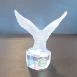 Goebel Frosted Crystal Eagle Paperweight Figurine