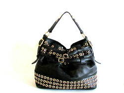 Women#x27;s Handbags Designer Bags Rebbecca Minkoff Black Leather Gromment Hobo $202.50
