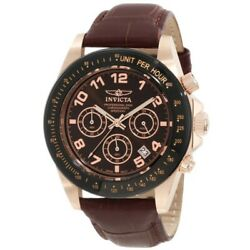Menand039s Watch Speedway Quartz Rose Gold Tone Brown Dial Chronograph 10712