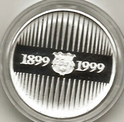 Medals Silver Centenary Del Barcelona Football Club @ With Case And Certificate