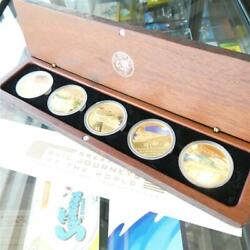 2004 Cook Islands Great Rail Journeys Of The World Five Coin 1oz Silver Gold ...