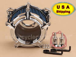 Air Cleaner Intake Blue Filter For Harley Road King Electra Glide Softail Clear