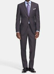 Canali Mens Classic Fit Wool Two Button Jacket And Pants Suit Size 56l