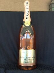 Huge Store Display 20 Moet And Chandon Nectar Imperial Rose Sealed Empty Bottle