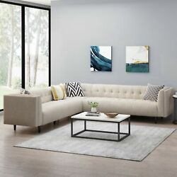 Konnor Contemporary Upholstered 3 Piece Sectional Sofa Set