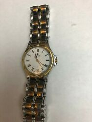 Cyma Le Locle Womenand039s Stainless Steel 18k Gold-bezel Two-tone Date Watch