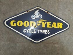 Lot Of 5 Porcelain Goodyear Enamel Signs 10 X 18 Inches