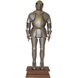 Antique Knight Suit Of Armor Crest Wearable Halloween Costume