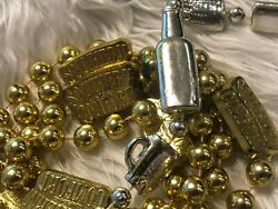 Lot/2 Pair Southern Comfort Alcohol Beer Bottles Mugs Mardi Gras Beads Necklace