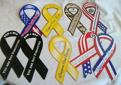 Support Our Troops Magnet Ribbon Car Auto Refrigerator Fridge Kitchen - Lot Of 9