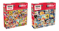 Set Of 2 Kellogg's Vintage Cereal Puzzle Retro Cereal Boxes And Rice Krispies
