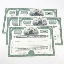 Sept 30 1965 The Atlantic Refining Company Stock Certificate 100 Shares Lot 2