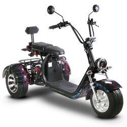 Soversky Electric Fat Tire 3 Wheel Scooter 2000w Lithium Adult Trike T7.1 Black