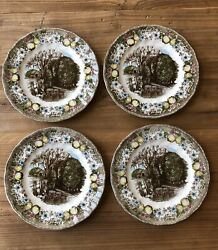 Johnson Brothers Made In England The Friendly Village Luncheon Set/4 Free Ship