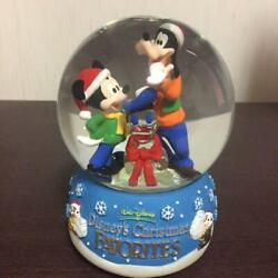 Disney And Dole Limited Snow Globe Nobelty With Music Box Micky Goofy