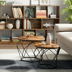 Set Of 2 Side Tables Coffee Tables Tea Table Side End Tables Living Room