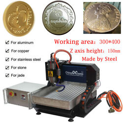 3axis Steel Cnc 3040 Router 2200w Linear Guide Milling Carving Engraving Machine