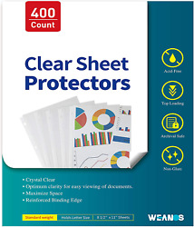 Sheet Page Protectors Binder Sleeves - Designed To Protect Frequently Used 8.5 X