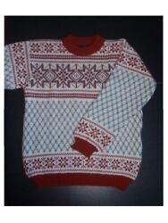 Dale Of Norway Mens Pure Wool Jumper Sweater Fair Isle Size L