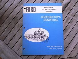 Ford Tractor 406 Tool Bar Cultivator Owner Operator Manual Instruction Book