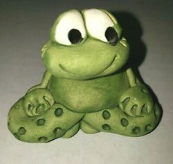 Vintage Beast From The Bestiary Green Clay Frog