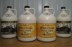 One Gallon 100 Pure Wisconsin Maple Syrup Grade A Medium Amber/amber Rich Taste