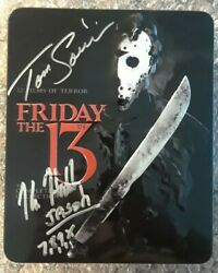 Friday The 13th Complete 12 Film Collection Steel Tin Blu-ray Autographed