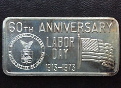 1973 Great Lakes Mint Labor Day Glm-5 Silver Art Bar A2775