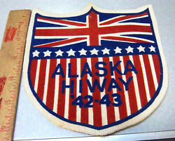 Rare Vintage 1942 1943 Alaska Highway Alcan Woven Style Patch Wwii Era New
