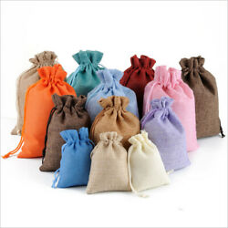 Linen Sack Drawstring Jute Gift Bags Wedding Favor Candy Xmas Pouch Cn Wholesale